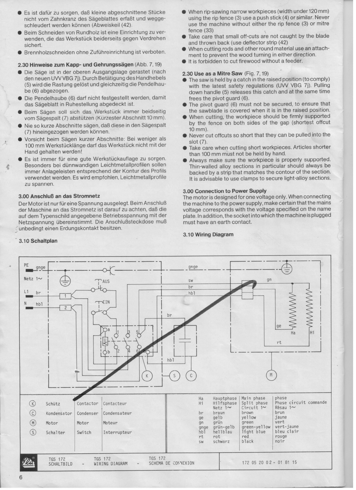 Manual elu tgs 172 page 2 of 21 german english french next page keyboard keysfo Images