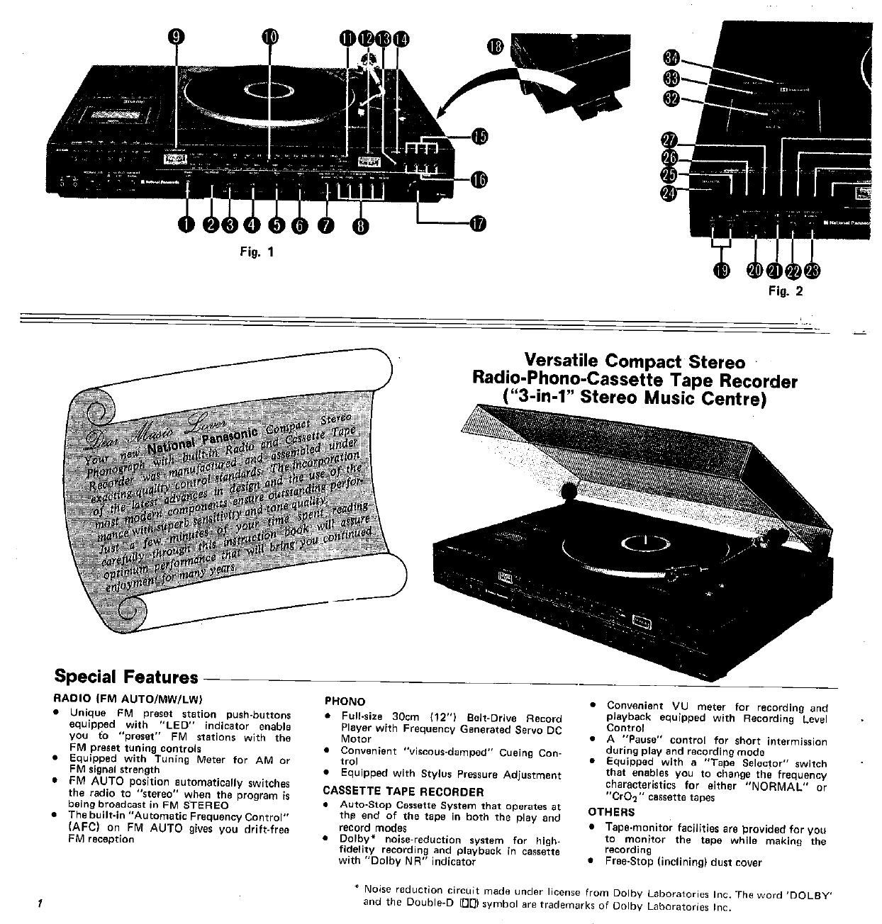 Manual Panasonic Sg3060 Page 1 Of 20 English Stereo Noise Reduction Circuit Next