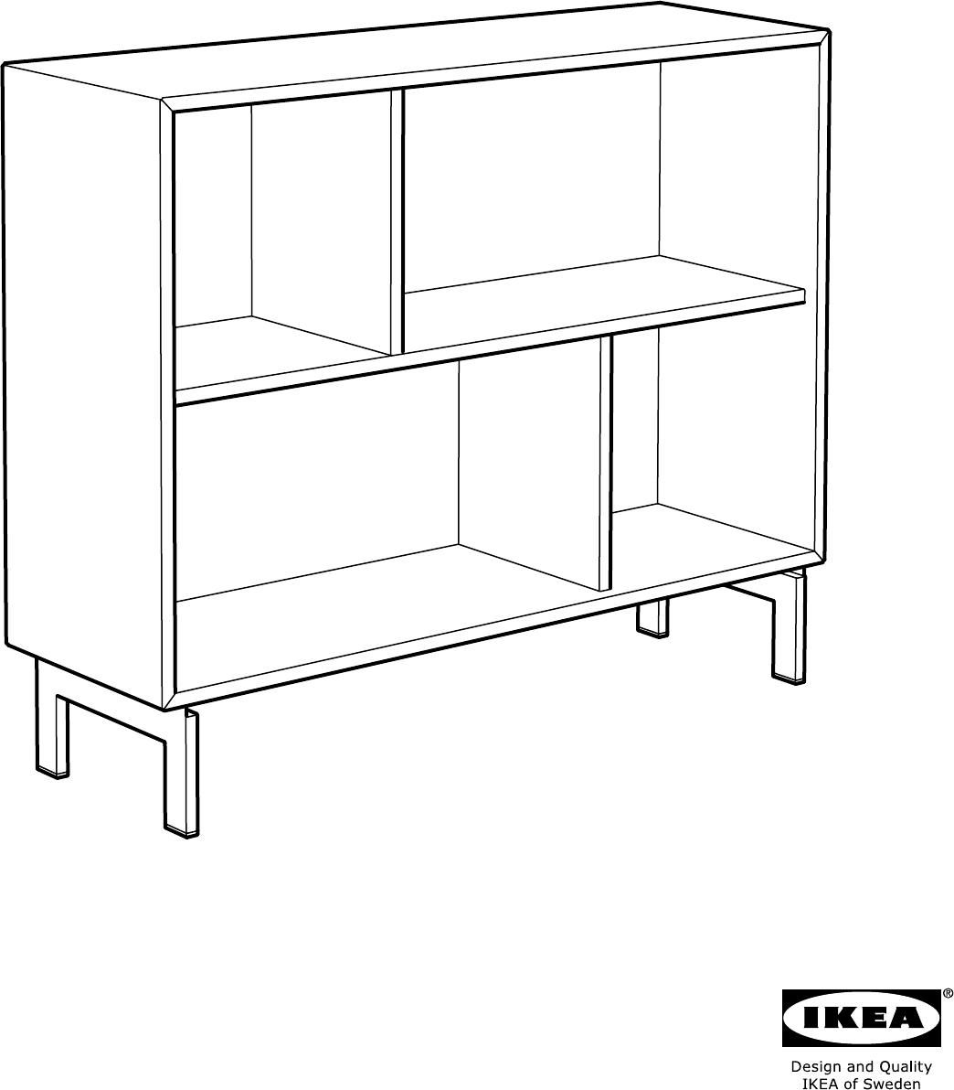 Manual Ikea 20279609 Valje Open Kast Page 1 Of 12 All