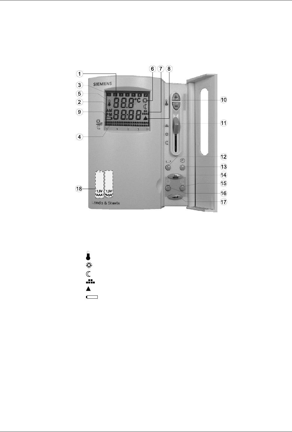 Siemens rde10-1 central heating preview manual for free | page: 8.