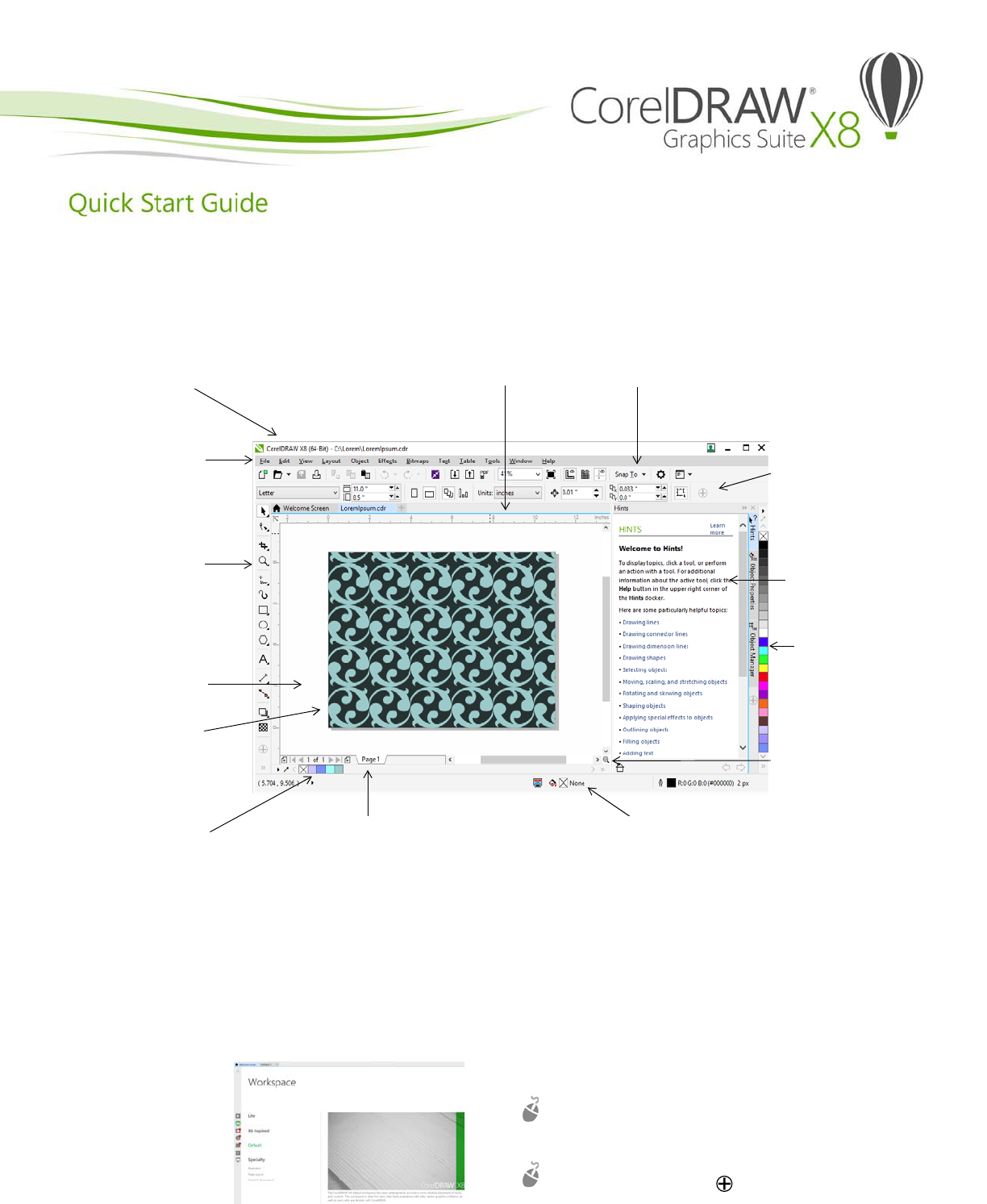 Manual Corel Draw Graphics Suite X8 Page 1 Of 12 English