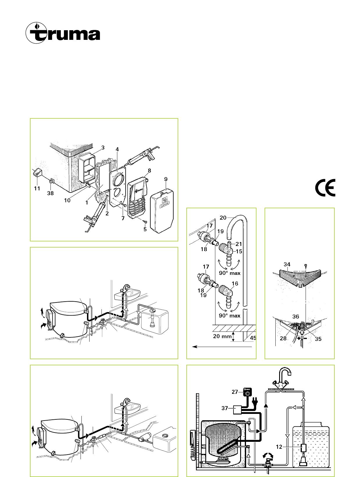 Manual Truma Ultrastore (page 3 of 10) (English) | Truma Caravan Heater Wiring Diagram |  | Libble.eu