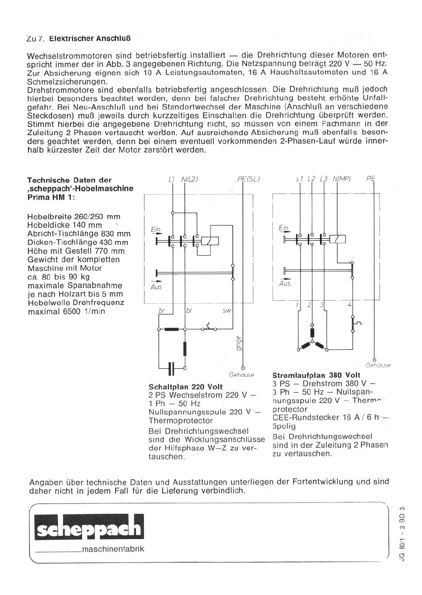 Manual Scheppach HM1 (page 8 of 8) (German)