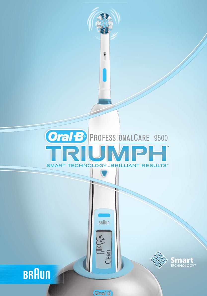 manual braun oral b pc 9500 triumph d 25 526 4 page 1 of 51 rh libble eu Oral-B Triumph Replacement Battery braun oral b triumph 9000 manual