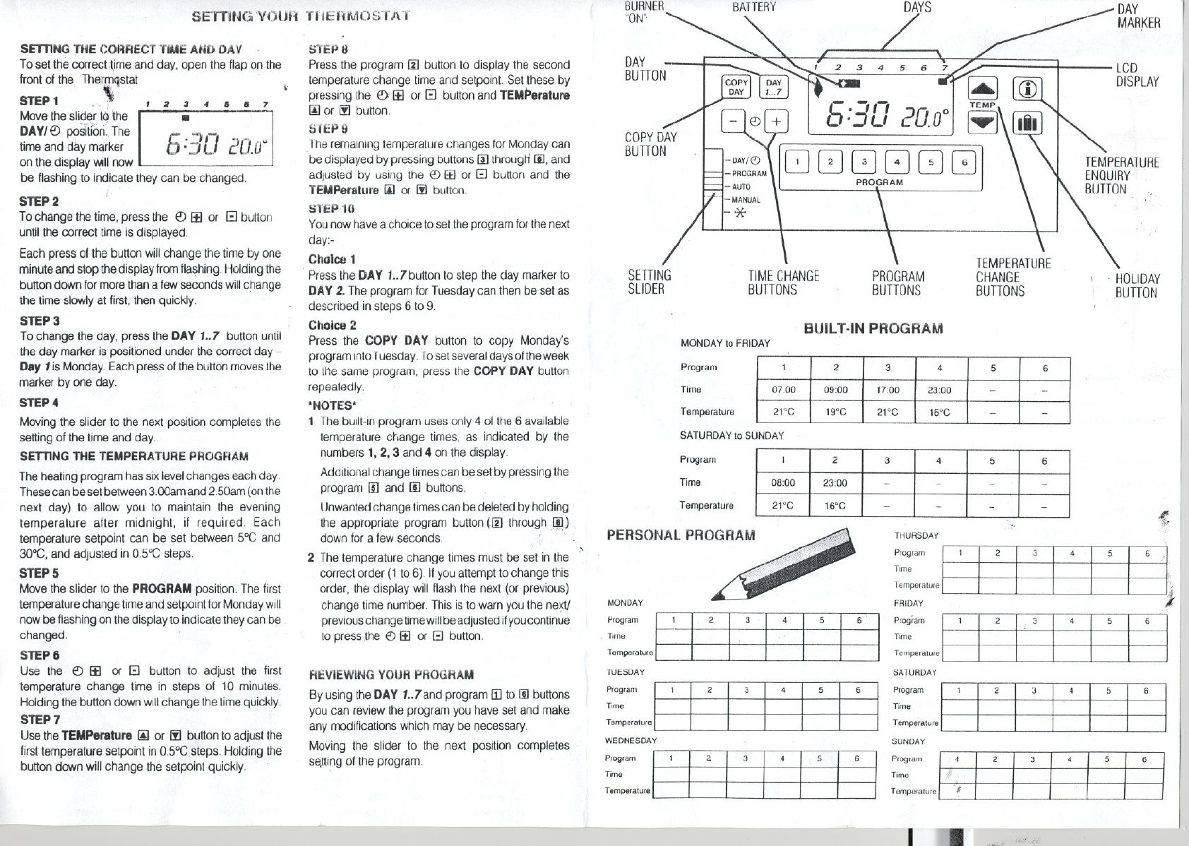 manual honeywell cm51  page 1 of 2   english