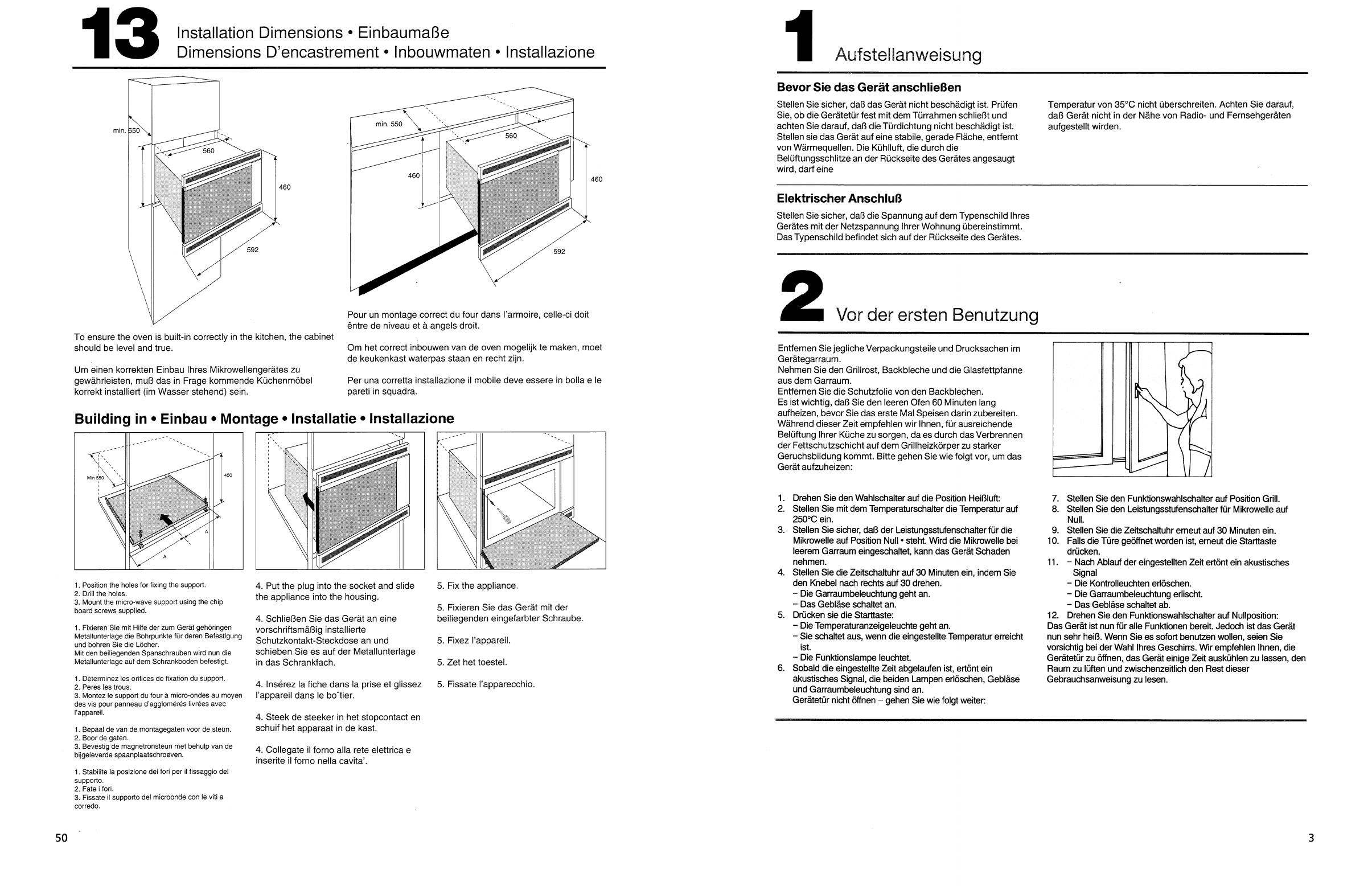 Fixation Pour Micro Onde manual whirlpool avm 927 wh (page 25 of 28) (german, french