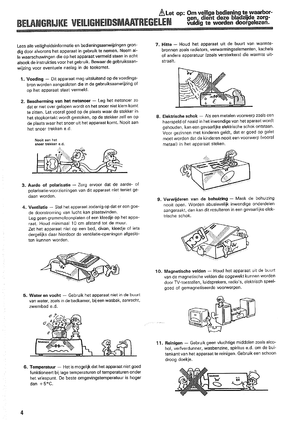 Manual Kenwood Midi M-757 (page 4 of 46) (Dutch)