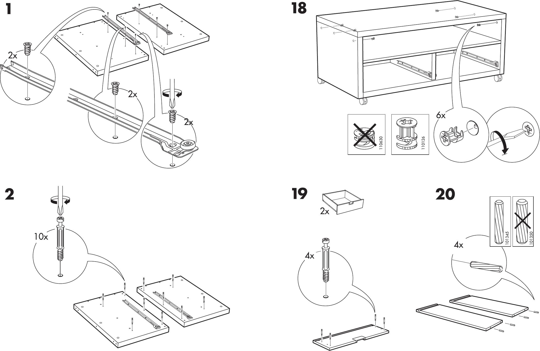 Tv Meubel Besta Jagra.Manual Ikea Besta Jagra Tv Meubel Page 5 Of 8 Danish German