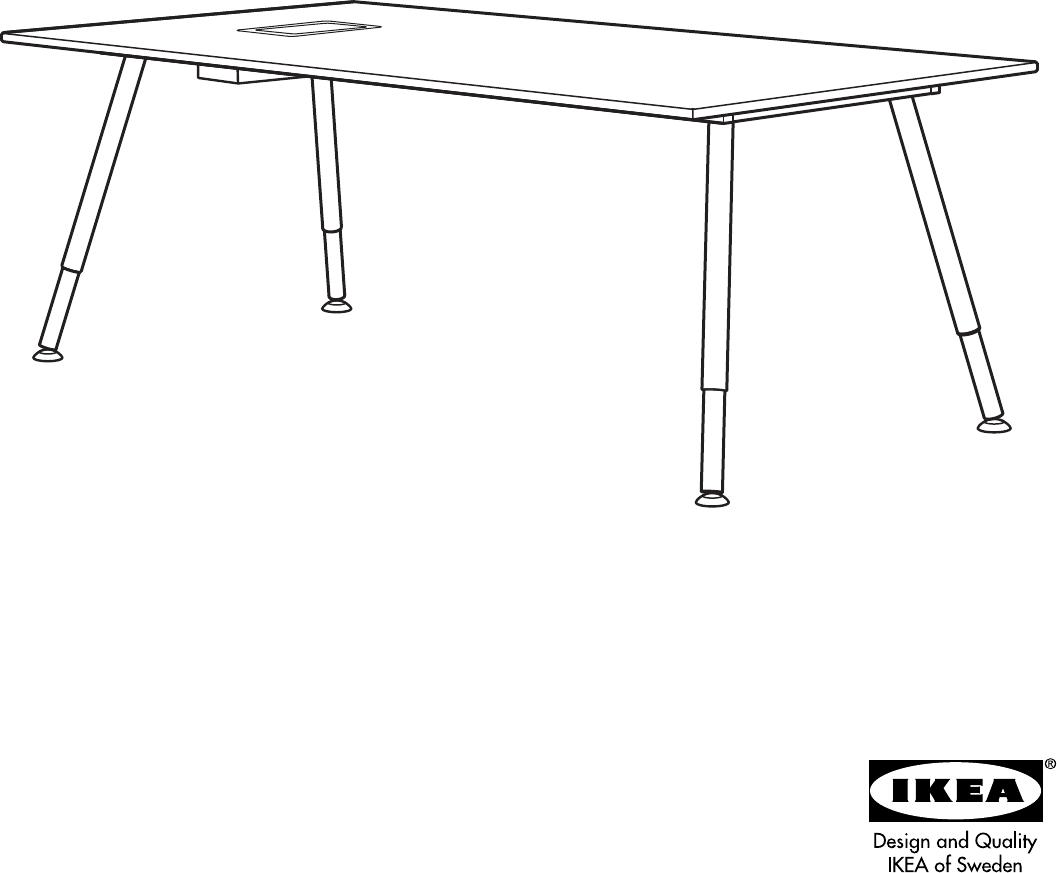 Onwijs Manual Ikea GALANT Vergadertafel (page 2 of 8) (Danish, German YT-61