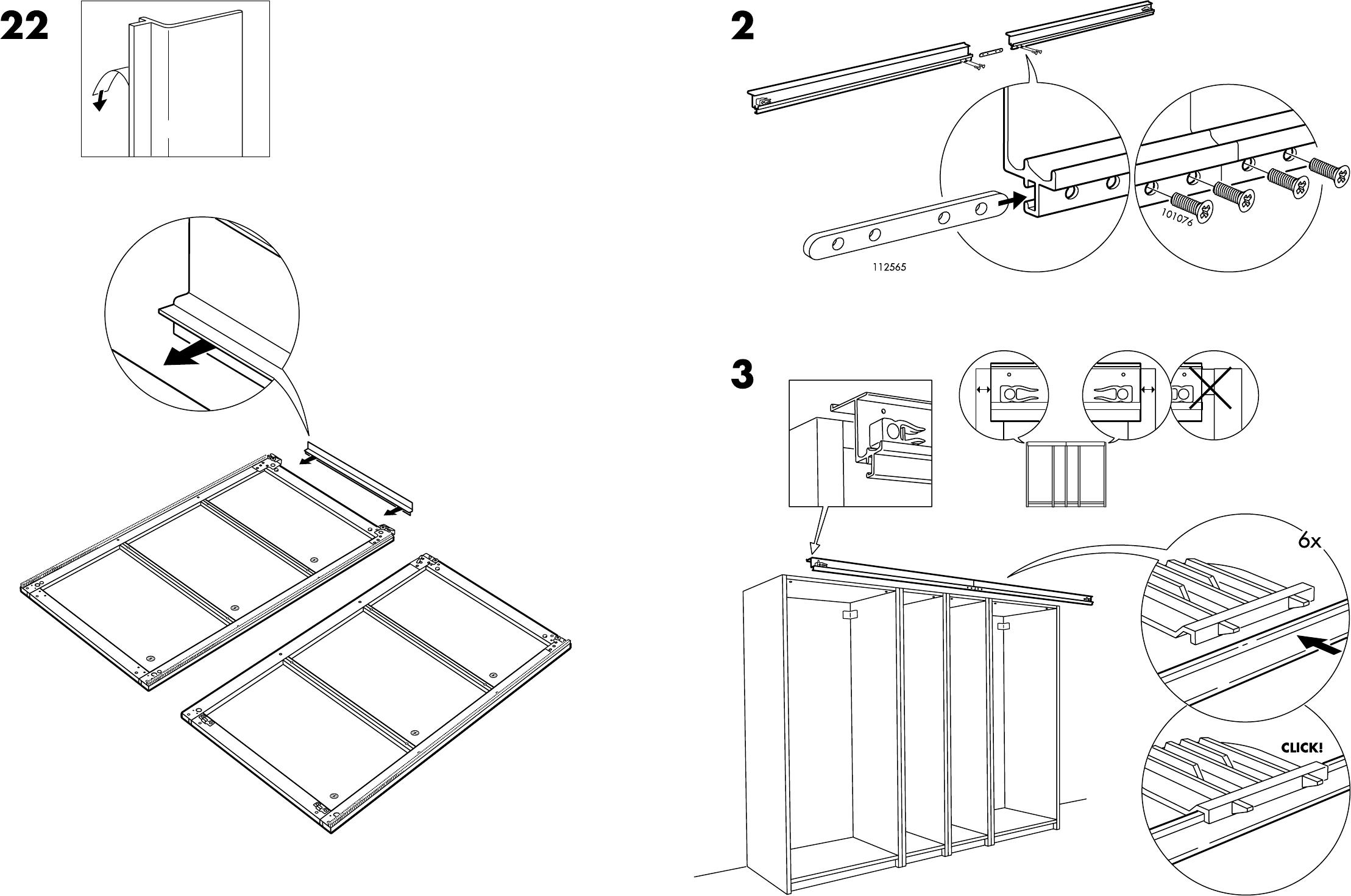 Manual Ikea Pax Stordal Schuifdeuren Page 1 Of 12 Danish