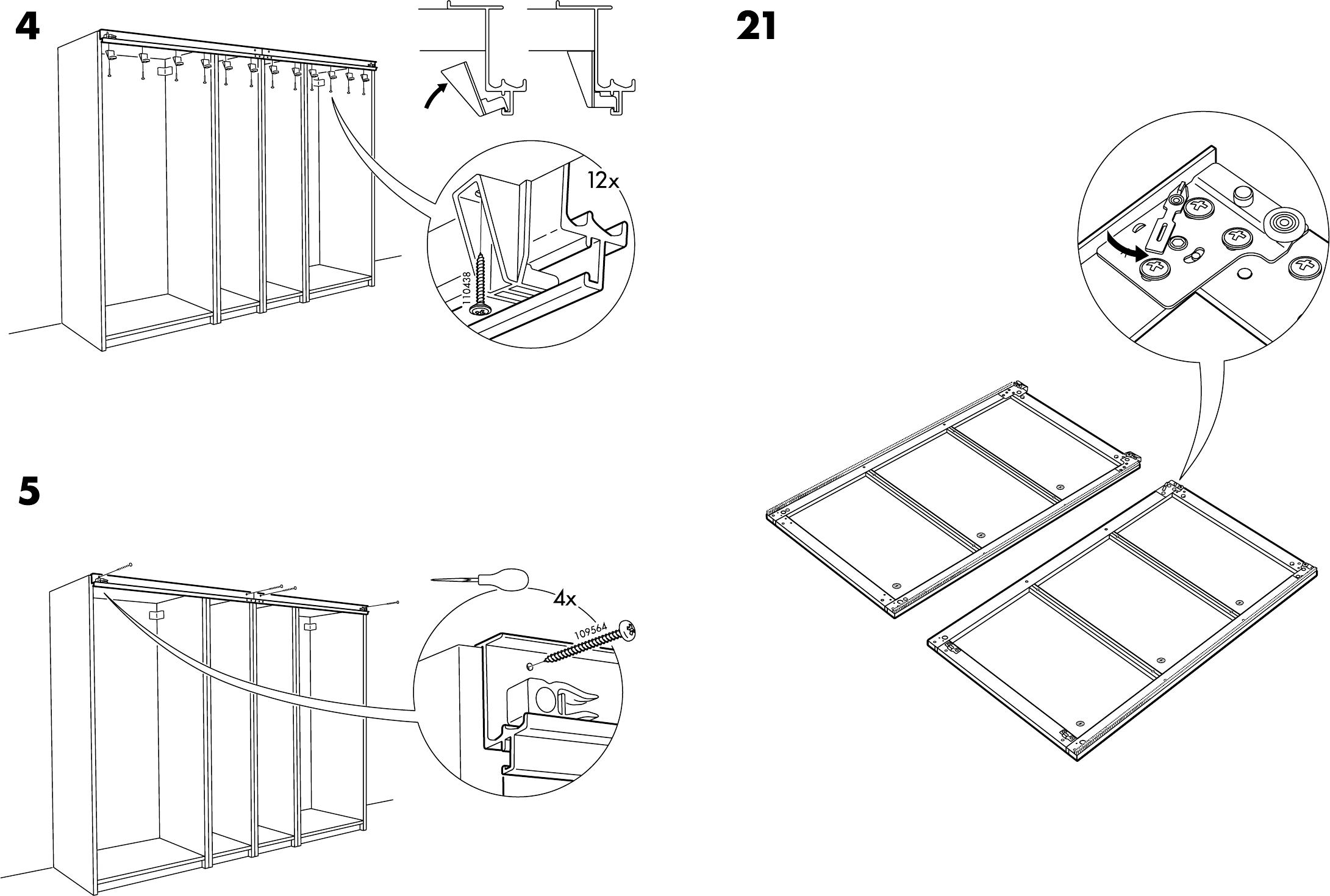 Manual Ikea Pax Stordal Schuifdeuren Page 3 Of 12 Danish