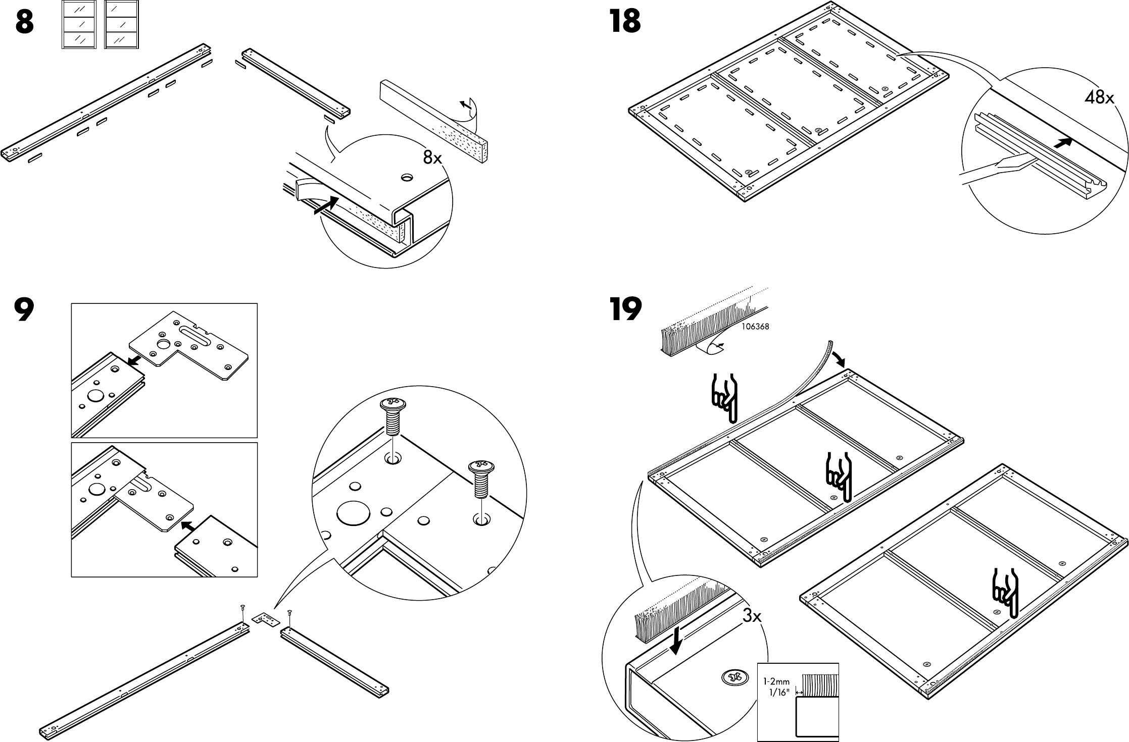 Pax Ikea Schuifdeuren.Manual Ikea Pax Stordal Schuifdeuren Page 10 Of 12 Danish