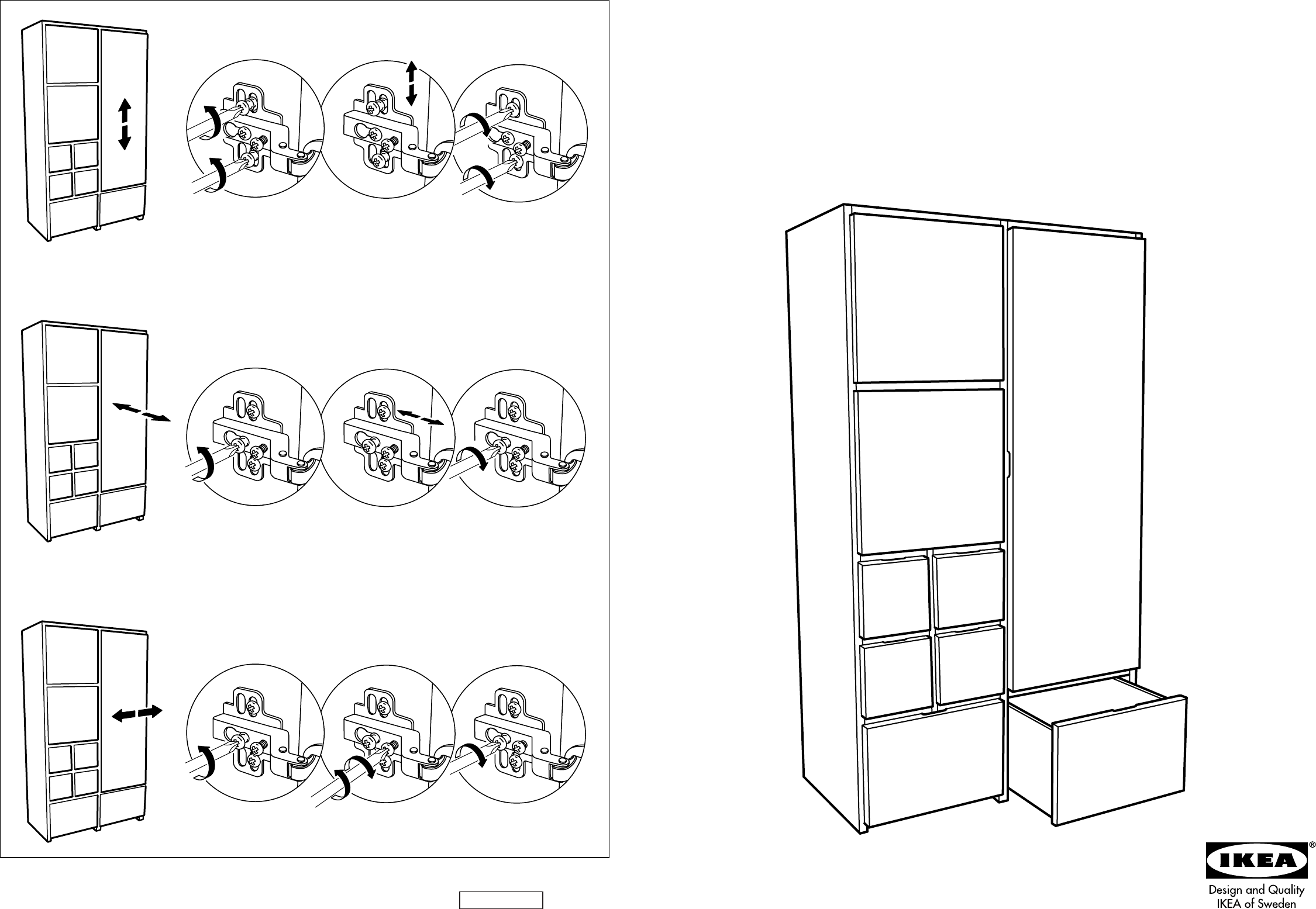 Manual Ikea Rakke Kast Page 1 Of 12 Danish German