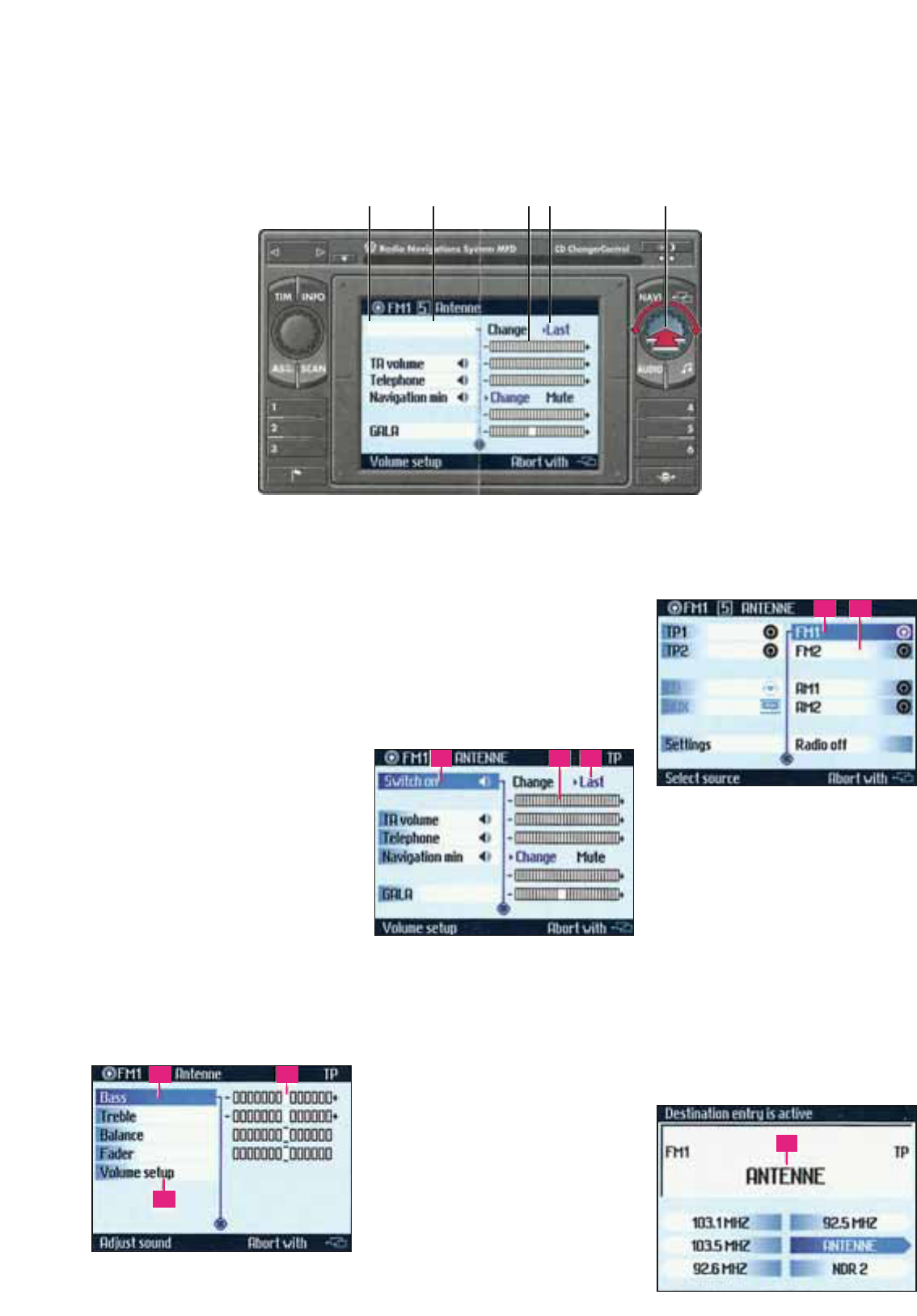 Manual Volkswagen Mfd Radio Navigation System Page 1 Of 4 English