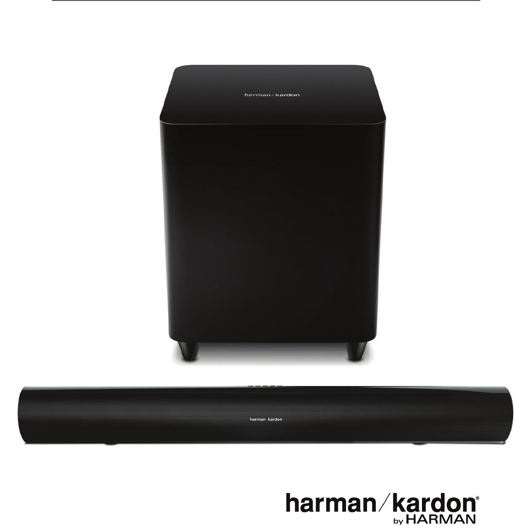 Harman Kardon SB26 Advanced Soundbar with Bluetooth and Powered Wireless Subwoofer