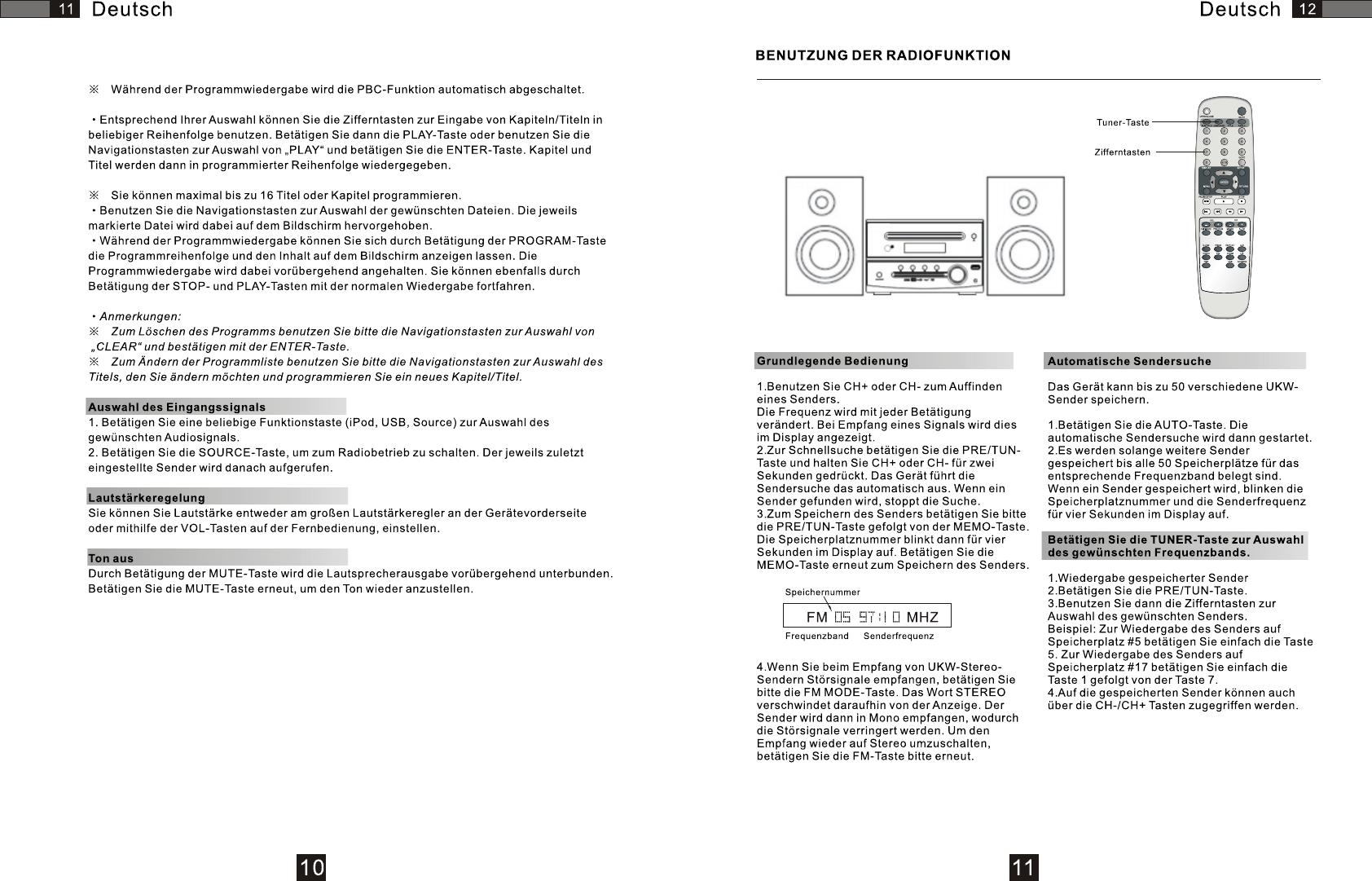 Manual AEG MC 4426 DVD (page 10 of 12) (German)
