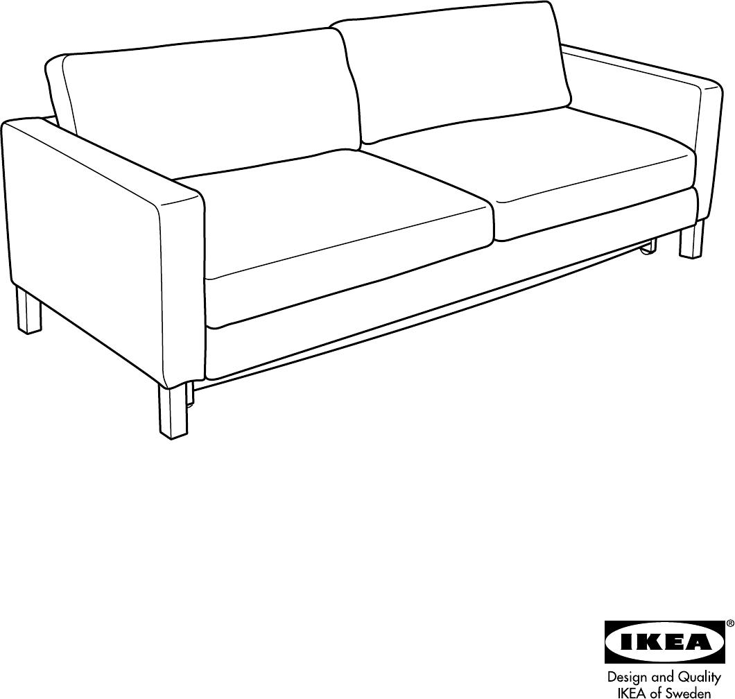 Slaapbank Ikea Karlstad.Manual Ikea Karlstad Page 1 Of 16 All Languages
