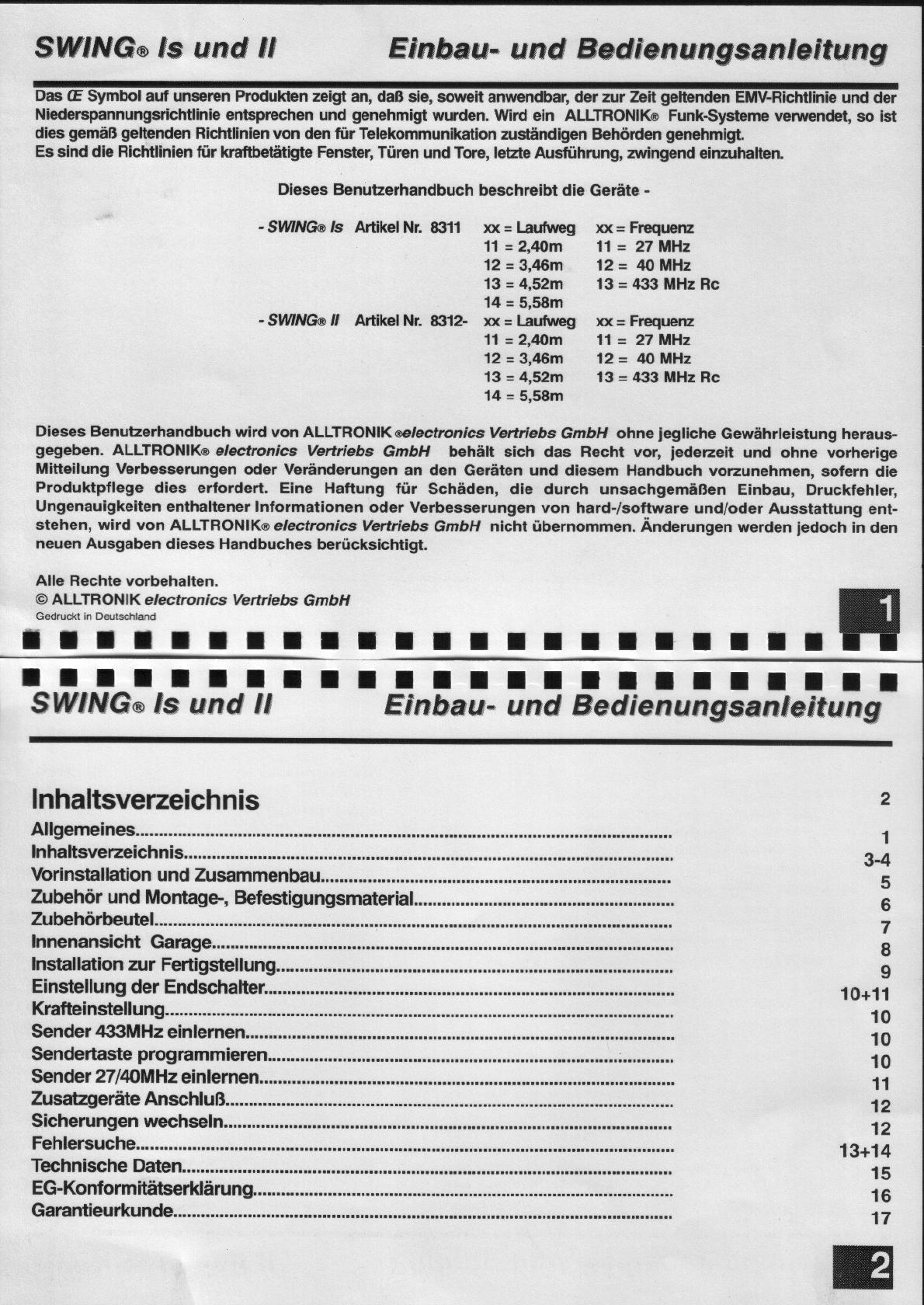 Manual Alltronik Speed 600S (page 2 of 9) (German)