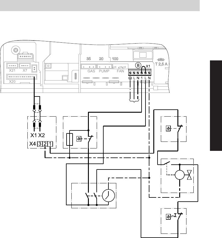 Manual Viessmann Vitodens 100 W Type, Viessmann System Boiler Wiring Diagrams