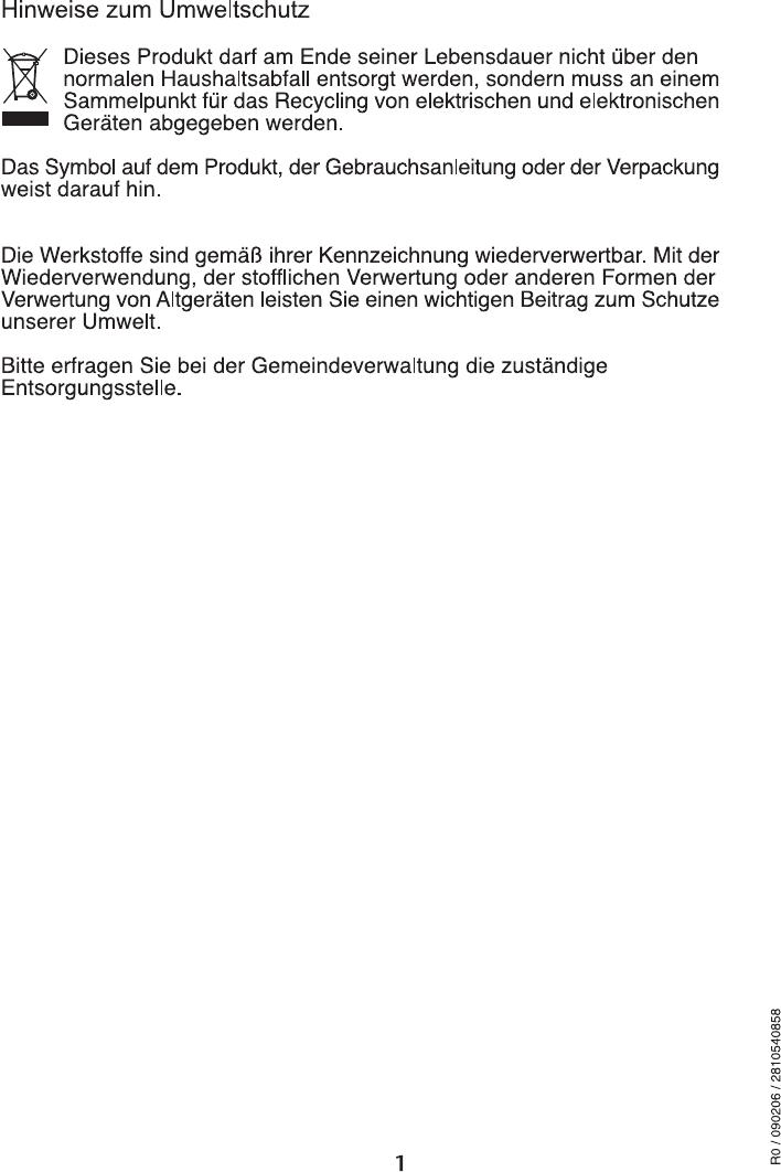 Manual Blomberg waf 7320 (page 2 of 29) (German, English)