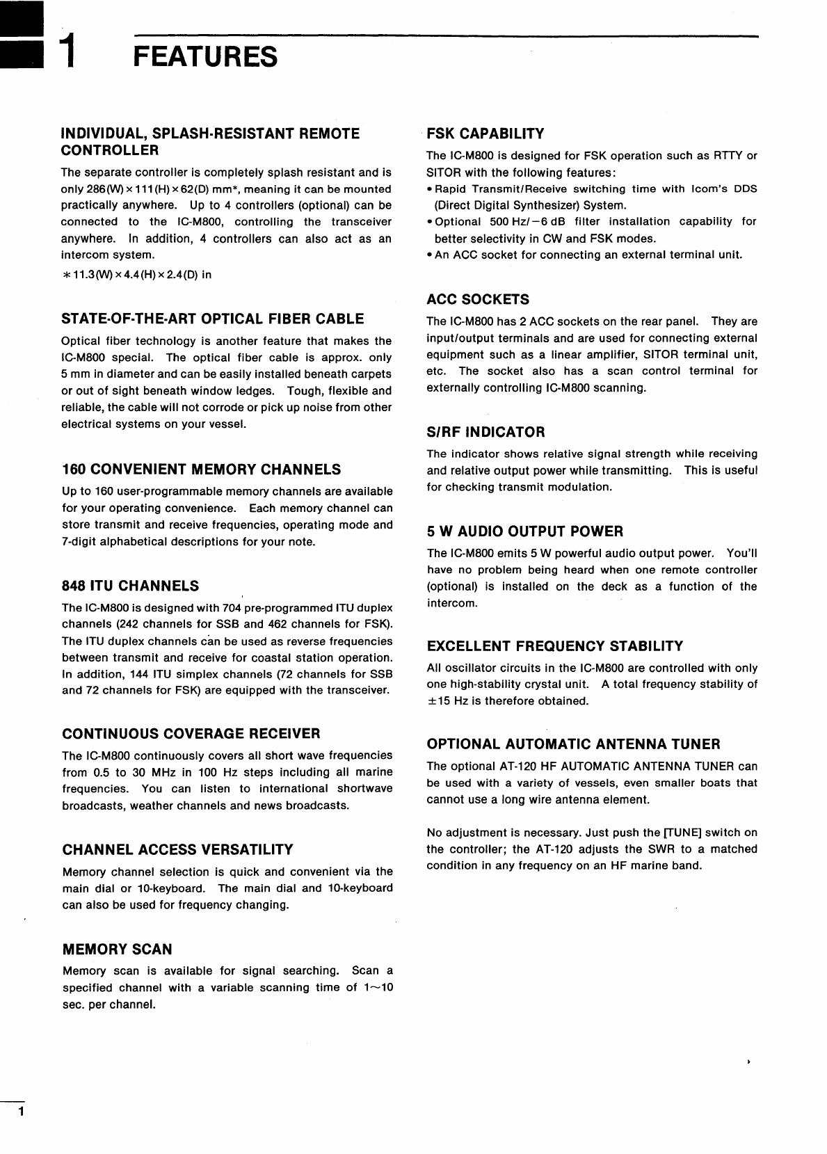 Manual Icom IC-M800 (page 1 of 32) (English)